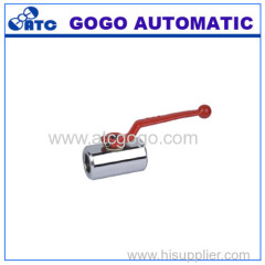 Ball valve straight type