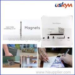 Promotional Multifunction silver Magnetic Polar Pen