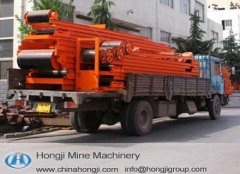 Mineral ore belt conveyor system for mining industry