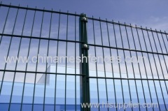RAL6005 Painting Twin Wire Panel Fence