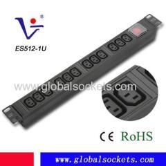 Network Rack 1U 19' IEC C13 PDU