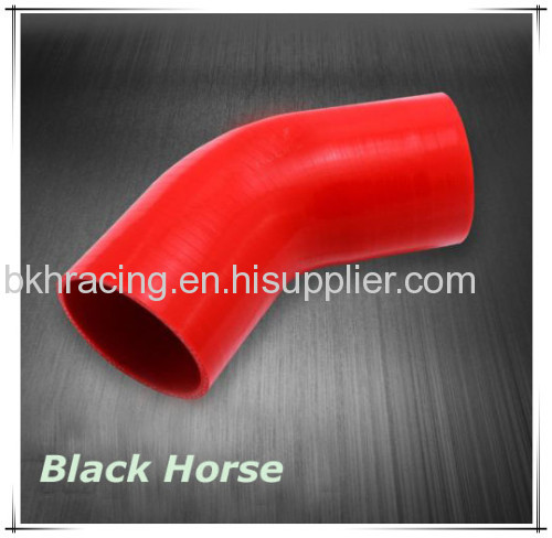 "Black 1.77"" 1-7/9"" 45mm 45 Degree Elbow Silicone Hose Pipe Turbo Intake"