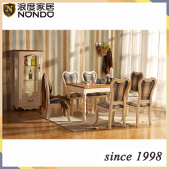Cheap solid wood furniture wood dining table tea table S007