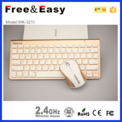 WK3211 hot sell bluetooth wireless keyboard and mouse combo