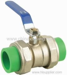ppr doulbe union ball valves with brass ball