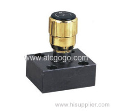 Restrictive valves/restrictive one-way valve