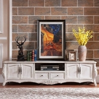 White antique styled furniture design wooden tv table
