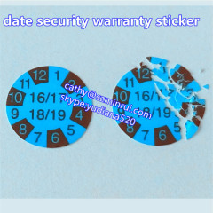 hot sale adhesive type custom security sticker