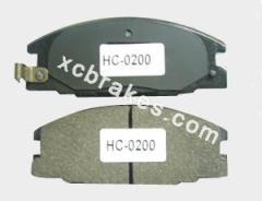Auto parts semi-metallic brake pad for CHRYSLER