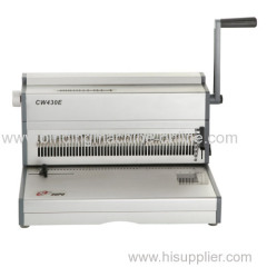 Desk-top A3 size electric wire binding machine