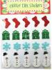 Christmas glitter EVA Foam sticker