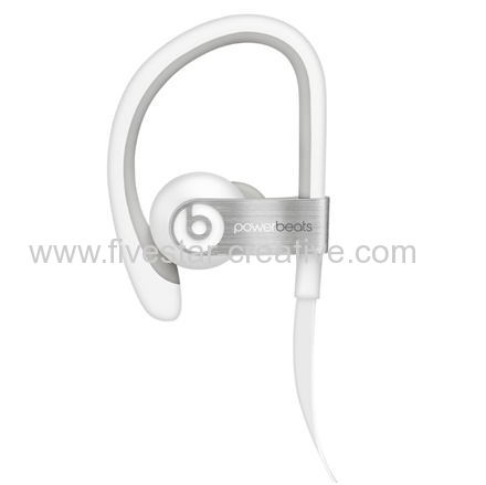 Beats by Dre Powerbeats 2 Wired White Sport In-Ear Earbuds Headphones for iPhone iPod iPad