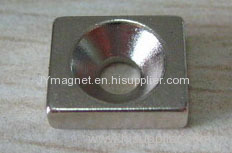 Countersunk disc and block nickel magnet for sale