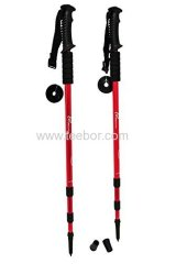 Anti Shock Trekking/Walking/Hiking Poles with Compass (Set of 2)