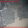 Folding steel storage cage with strong leg