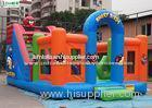 Colorful Angry Birds Inflatable Playground Made Of 610g/m2 PVC Tarpaulin