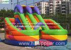 Rainbow Inflatable Bounce Houses With Slides / Tunnel For Kids Outdoor Use