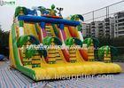 8M High Adult Giant Commercial Bounce House Water Slide For Outdoor Activities