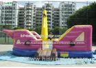 Purple Kids Jalor Inflatable Bounce Houses / Jump And Slide Inflatables for Parks