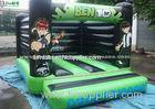 Ben 10 Large Green Inflatable Bouncy Castle For Kids , Made of 610g/m2 PVC Tarpaulin