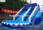 Kids Backyard Inflatable Water Slides With Pool , 14' High Bounce House With Waterslide