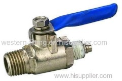 Mini Ball Valve For Air Pump Brass Valve For Water Gas