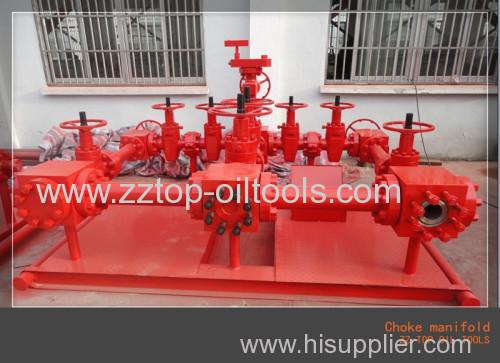 Wellhead 3 1/8  x 5000 psi High Pressure Choke Manifold for drilling service