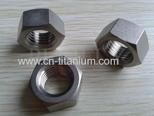 Ti B348 Gr 2 HEX HEAVY DOUBLE CHAMFER NUTS hot forged