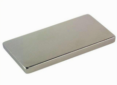 Nickel coated long block rare earth magnet