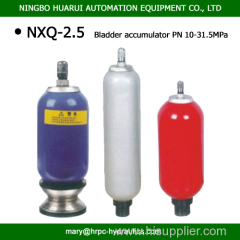 2.5L 31.5MPa bladder accumulator