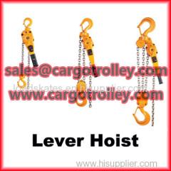 Lever chain hoist manual instruction