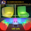 Modern Leisure Furniture LED Glow Corner Straight Sofa