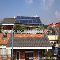 Mini solar project on grid solar panel system 1500W