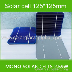 Hifg efficiency A grade solar cells 125x125