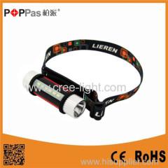 POPPAS 3W 130LM Multi-Function XP-E R2/6PCS SMD LED Headlamp