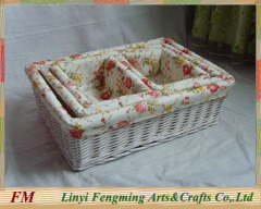 White wicker gift Basket for kids