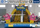 Spongebob Kids Inflatable Slides , Cartoon Colorful Inflatable Bouncer
