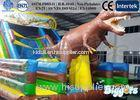 Lively Dinosaur Kids Inflatable Slides , Outdoor Bouncy Slide with Animals