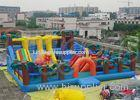 Outdoor Inflatable Fun City Giant Dinosaur Playground 0.55MM PVC For Children