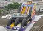 Roller Coaster Kids Inflatable Slides With Four Slides For Playground Amusement Park