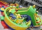 Fun Kidwise Inflatable Fun City Vinyl Fire-Resistant , EN14960 EN71 Inflatable Rental