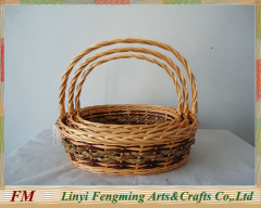 Convenient cheap flower wicker woven willow craft basket