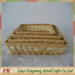 wicker fruit storage basket with wicker wine basket dividers and handle