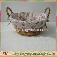 wicker fruit tray with liner