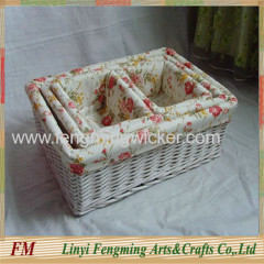 New arrival square shape handmade willow dry fruit decoration tray