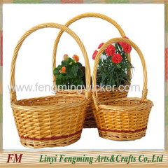 3pcs willow flower basket gift basket