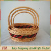 Alibaba high quality eco-friendly handmade willow bread display basket and gift basket