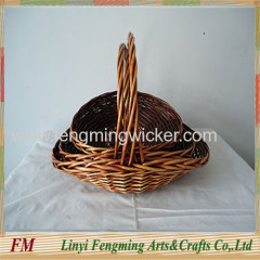 cheap high quality handmade mini fishing creel wicker basket