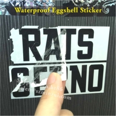 waterproof vinyl eggshell stickers for outdoor use