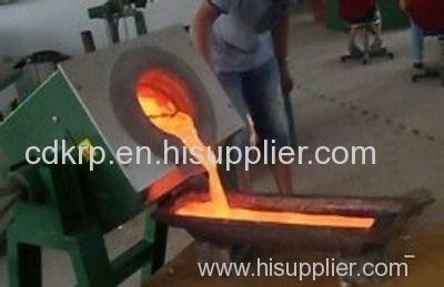 100 kw , 150kgs medium frequency induction lead smelting furnace